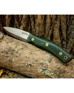 Casström Forest Knife No.10 With Firesteel Green Micarta Scandi Grind