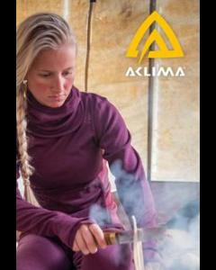Aclima Warmwool Mock Neck Woman Small Peacoat