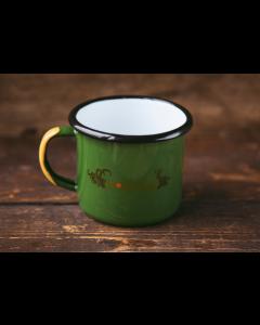 SÅ ER DEN HER! Emaljekop - Grøn med B-wild logo