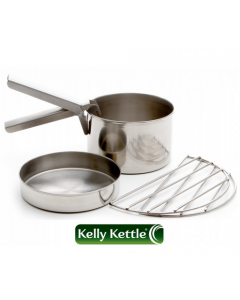 Kelly Kettle Cook Set Trekker - Rustfrit Stål