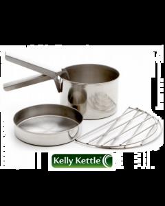 Kelly Kettle Cook Set Base Camp/Scout - Rustfrit Stål
