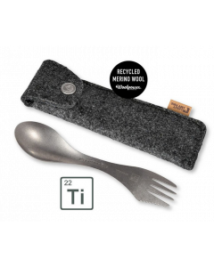 Light My Fire Spork Kit Titanium med Wool-Etui