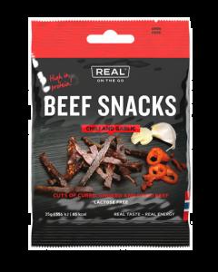 Real Turmat Beef Snacks - chili og garlic