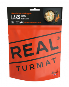 Real Turmat  - Laks med Pasta i Flødesovs
