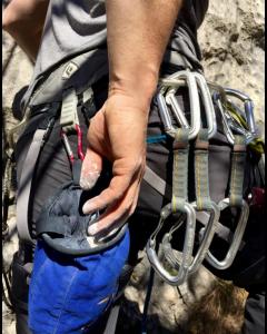 Climbing Technology stålkarabin med skruelukke
