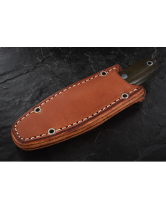 Bark River City Knife Burgundy Canvas Micarta